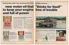 Race Driver Jack Thomas Sinclair Dino Oil (1966)
