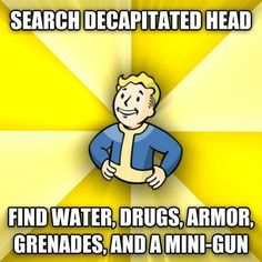 30 of the Most Ridiculous Examples of Fallout Logic - Video Game Memes Fallout 3, Fallout Facts, Fallout Funny, Fallout New Vegas, Fallout Quotes, Fallout Tips, Fallout Comics, Video Game Logic, Video Games Funny