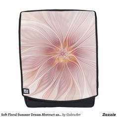 Soft Floral Summer Dream Abstract and Modern Art Backpack