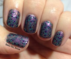 Philly Loves Lacquer Don't Cut the Line Bro, stamping courtesy of Bundle Monster BM-607 and accent color using dotting tool