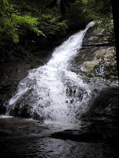 Fall Branch Falls in Blue Ridge, Georgia