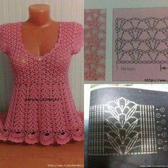Fabulous Crochet a Little Black Crochet Dress Ideas. Georgeous Crochet a Little Black Crochet Dress Ideas. Débardeurs Au Crochet, Gilet Crochet, Crochet Motifs, Crochet Diagram, Crochet Woman, Crochet Cardigan, Crochet Stitches, Crochet Patterns, Crochet Tops