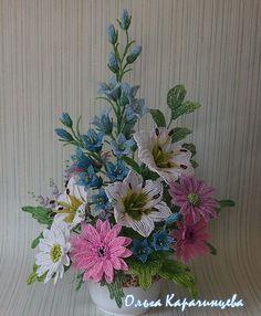 Květinová dekorace * korálky, nádherné ♥♥♥