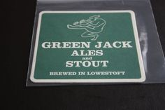 2010 Beermat Green Jack Brewery (Lowestoft) Cat 002 (1X91 8/14)