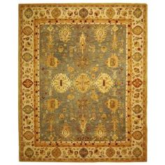 Safavieh Anatolia Blue/Ivory 9 ft. x 12 ft. Area Rug-AN547A-9 at The Home Depot