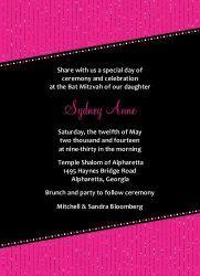 Sparkly Celebration Pink - Bat Mitzvah Invitations
