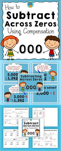 Subtracting Across Zeros Using Compensation - Powerpoint and practice pages for teaching this strategy.