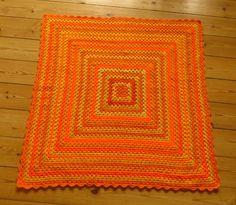 Orange Baby Blanket Yellow Baby Blanket 31x31 by PhoenixSmiles