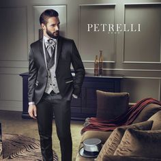 New Collection Essential Gold Petrelli Uomo man Suits for wedding
