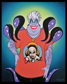 Ursula, The Little Mermaid. Profanity Pop, José Rodolfo Loaiza Ontiveros, La Luz de Jesus.