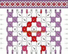 Normal Friendship Bracelet Pattern #1025 - BraceletBook.com