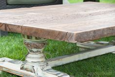 Pleasant Pickin's - Re-Purposed Coffee Table   (from half of an old Dining Table!)