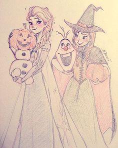 Elsa and anna by nyamo All Disney Princesses, Disney Princess Frozen, Frozen Movie, Frozen Frozen, Princess Sketches, Disney Sketches, Disney Drawings, Arte Disney, Disney Fan Art