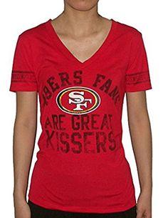 Pink Victorias Secret Womens NFL San Francisco 49ers T Shirt L Red ** For more information, visit image link.