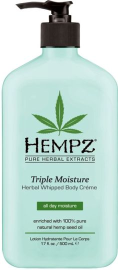 Hempz Triple Moisture Herbal Whipped Body Creme with 100% Pure Natural Hemp Seed Oil   Best lotion ever! Smells like Victoria's Secret Love Spell!