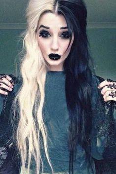 cabello de dos colores disfraz