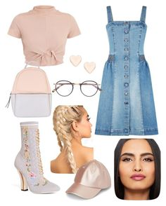 """Untitled #7"" by cjzj on Polyvore featuring STELLA McCARTNEY, Fendi, Calvin Klein, Garrett Leight, Ted Baker and Maybelline"