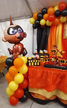 4th Birthday Parties, 1st Birthdays, Birthday Party Decorations, Baby Boy Birthday, 3rd Birthday, Incredibles Birthday Party, Bash, Party Ideas, The Incredibles