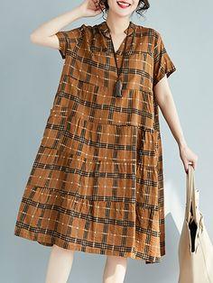 a2d4e587f4 Shop Linen Dress from ZINUOLAN