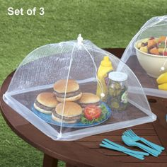 Food tent for camping picnics, and parties.