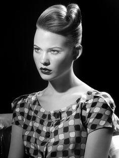 Models: Behati Prinsloo Photographer: Miles Aldridge Vogue January 2005 - 4