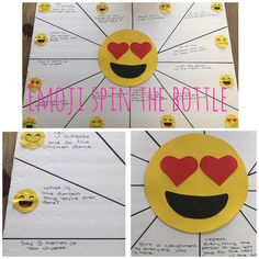 Emoji spin the bottle Game .Super easy to make . Perfect for my 12 year olds daughters emoji birthday party . Emoji birthday party . Good game to break the ice .