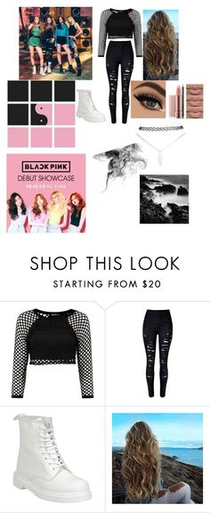 """blackpink ""Jennie"" inspired look #1"" by trust-kashmir ❤ liked on Polyvore featuring Dr. Martens and Wet Seal"