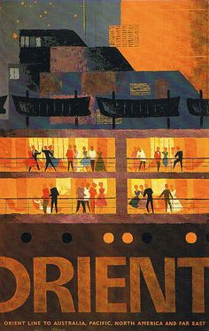 Orient Line travel poster, late 1950s. #images
