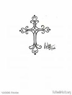 pretty cross tattoos women - Yahoo Image Search Results