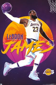 Lebron James Poster, Lebron James Lakers, Lebron James Wallpapers, Nba Wallpapers, Basketball Art, Basketball Pictures, Basketball Posters, Football Art, Lakers Wallpaper