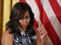 Pin for Later: Michelle Obama Just Wore the Most Unpredictable Floral Dress We've Ever Seen