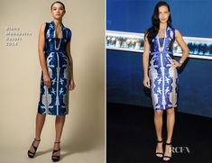 Adriana Lima In Bibhu Mohapatra - IWC Schaffhausen At The SIHH 2014 - Red Carpet Fashion Awards