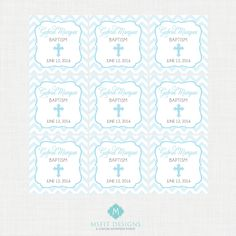 Printable Baptism Favor Tags - Favor Tags - Thank You Tags - Christening - Party Tags- Digital Printable by MsfitDesigns on Etsy