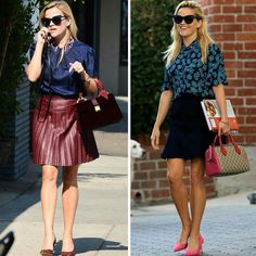 Duas inspirações do estilo #ellewoods fashion da Reese Witherspoon.💟✨ #reesewitherspoon #fashionstyle