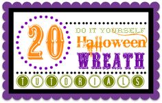 20 Halloween Wreath Tutorials over at the36thavenue.com