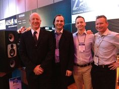EVE Audio company founder Roland Stenz from l.) with Electric Factory team, Australia. Brand manager Mark Spies from right) was there, too. Brand Management, Eve, Electric, Audio, Australia, Winter, Winter Time, Branding, Winter Fashion