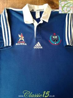 Official Adidas Samoa home rugby shirt from the 1999/00 season.