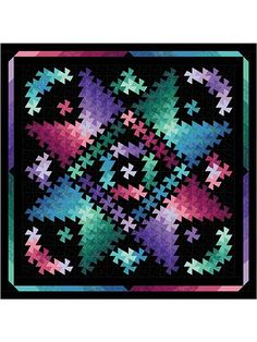 Your eyes aren't fooling you -- this really is a stunning pattern!   Combine squares in shades of your favorite colors with any pinwheel ruler to make a truly stunning quilt! Inspired by Northcott's new Artisan Shimmer fabric collection, this quilt will highlight and enhance any fabric you choose to use with it. Batiks and solids also look great on the finished quilt.