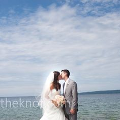 Little Traverse Bay is the perfect backdrop for the perfect wedding!  #PetoskeyArea http://www.PetoskeyArea.com