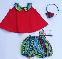 African print babies outfits made by BAYABS. Find more African Print Clothing and Accessories on Facebook: BAYABS and @bayabsgh_kids on Instagram