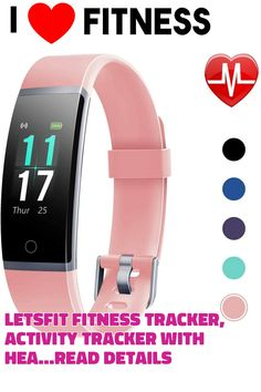 Letsfit Fitness Tracker, Activity Tracker with Heart Rate Monitor, IP68 Standard Smart Watch with Pedometer, Calorie Counter for Women Men Kids #fitnesstracker
