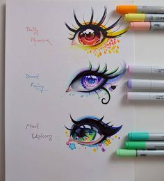 Realistic Drawings Mythical Creatures - Eye Edition by Lighane - Amazing Drawings, Cute Drawings, Drawing Sketches, Amazing Art, Wolf Drawings, Fantasy Drawings, Drawings Of Eyes, Copic Drawings, Pencil Drawings