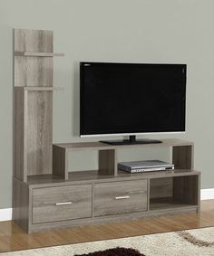 This Dark Taupe 60'' Display Tower TV Stand is perfect! #zulilyfinds