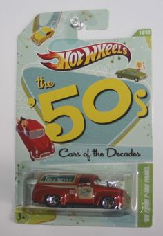 Hot Wheels '56 Ford F-100 Panel - Cars of the Decades the 50's - Collectors   #Mattel