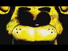 A glitch in FnaF Golden Freddy appears! Fnaf Jumpscares, Fnaf Golden Freddy, Scary Games, Fnaf 1, Five Nights At Freddy's, Glitch, The Voice, Skull, Youtube