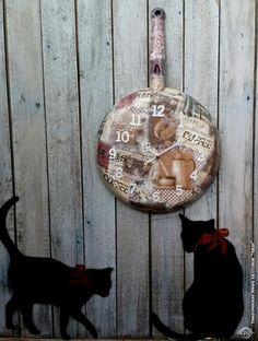 """Декупаж - Сайт любителей декупажа - DCPG.RU   """"Часы"""" № 8 . В уютном ресторанчике на тихой улочке Парижа"""