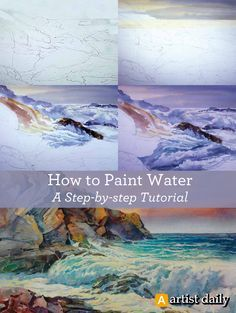 Learn How to Paint Water Like a Pro: Free Tutorial Download. Please also visit www.JustForYouPropheticArt.com for more colorful art you might like to pin or purchase or for painting ideas for your own paintings. Thanks for looking!