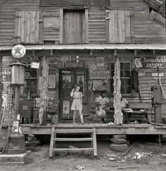July 1939. Daughter of white tobacco sharecropper at country store. Person County, North Carolina.  Medium-format nitrate negative by Dorothea Lange