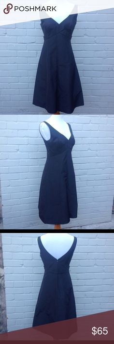 """NWOT J. Crew Silk Little Black Dress - Size 4 Black sleeveless silk dress that feels similar to taffeta, not a flowing silk, criss cross empire waist, v-neck, v dip in the back, lined and has a layer of tulle at the bottom to give the a-line shape, back zip with hook and eye. Measurements are approximate: Bust 16"""" length 38"""" New without tag. J. Crew Dresses Midi"""