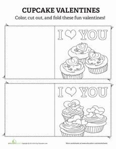 Cupcake Valentines Cards